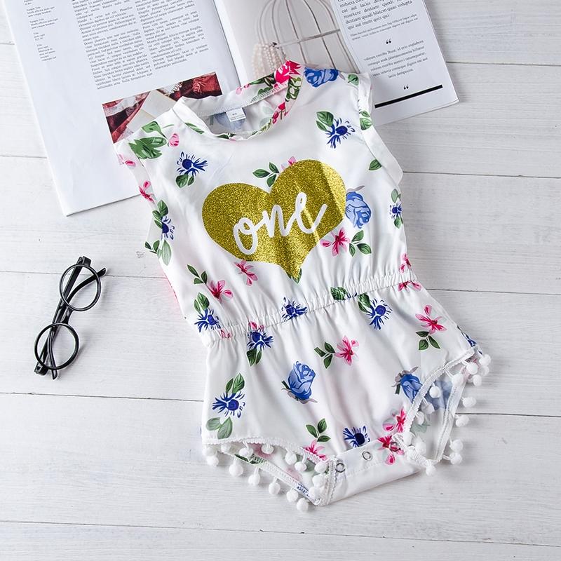 Babykleding 80.Baby Girls Striped Floral Short Sleeve Bodysuit Gl319axb088a White