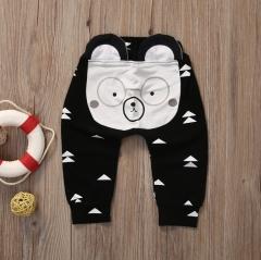 Unisex Daily Striped Geometric Animal Print Pants, Cotton Cute Active Black Navy Blue Light gray GG301A black 70