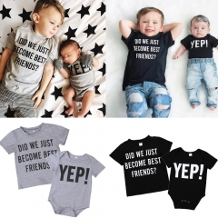 1PC Newborn baby boys girls romper or Kids Baby Boys Top Clothing ZM141AZM142A black 80 cotton