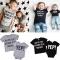 1PC Newborn baby boys girls romper or Kids Baby Boys Top Clothing ZM141AZM142A black 80 cotton