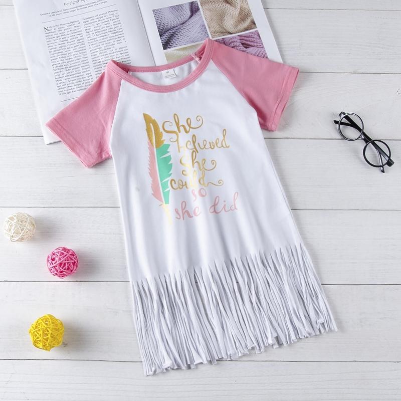 7ca46f99cd8 Newborn Baby Girl Casual Dress white short sleeves Shirt Kids Fashion Suit  pink GX511A 80