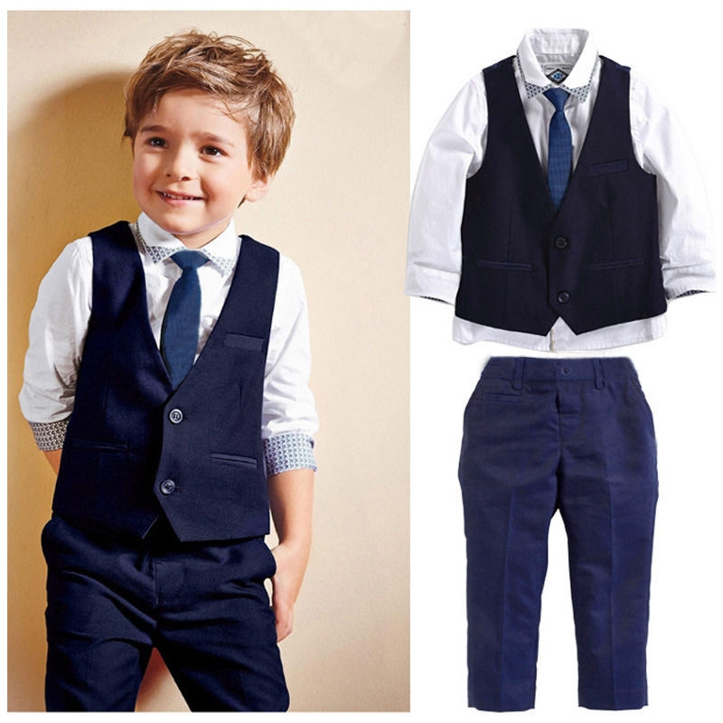 f7a42c320 Baby Boy Gentleman Clothing Set Wedding Birthday Party Formal Kid ...