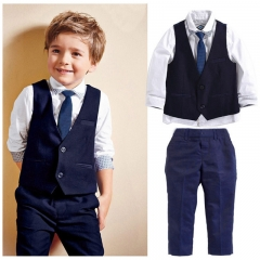 Baby Boy Gentleman Clothing Set Wedding Birthday Party Formal Kid Outfit royal blue GG119A 2