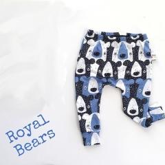 0-3T Kids Baby Boys Girls Bear Animals Bottoms Harem PP Leggings Pants Trousers navy blue GH405B 70
