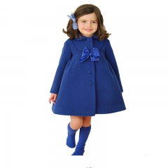 Fashion hot sale Autum Winter lovely bobywear Warm Coat ,girl coat ,girl clothing royal blue GX106A 100