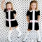 BABY girl Dress Casual Princess Dresses Toddler Short Sleeve Girl Clothing black GX131A 2