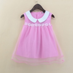 Promotion Clearance Kid Baby Girl Clothes Small daisy Dress Top Sleeveless Children Clothes For Girl pink GX036A 100