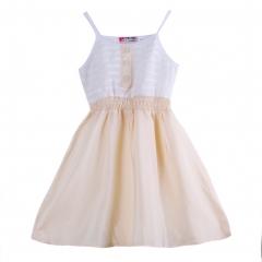 Promotion Clearance Baby Kids Girl Dress Toddler Clothing Princess Vest Dresses khaki GX096A 100