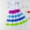 Promotion Clearance Princess Little Girl Dress Toddler Baby Kids Summer Dresses white GX111A 90