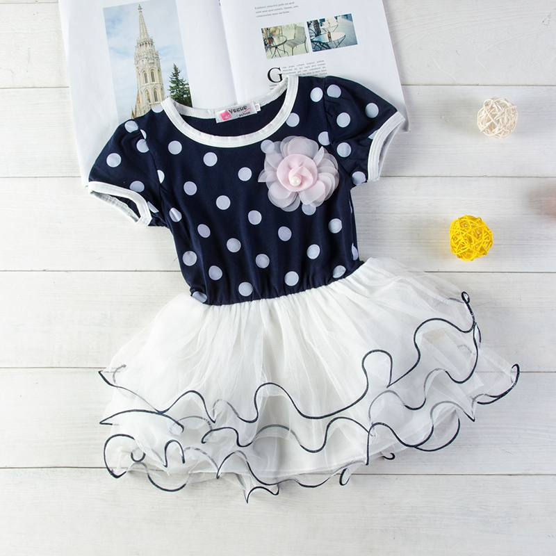 2002f9cb8906b Baby Girl Summer Dress Lace Princess Wedding Dresses Clothing black GX124A  90