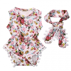 Promotion Clearance Fashion Newborn Infant Baby Girl Romper Jumpsuit Bodysuit Sunsuit Clothes GG151A 100