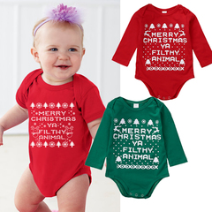 Children's clothing First Christmas Outfit Newborn Kids Baby Girls Boys Romper Bodysuit Clothing red gd036a 70
