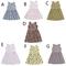Toddler Kids Girls Flower Dots Fruits Feather Sleeveless One-piece Dress Party Tutu Dress A XB128E l