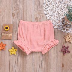 Toddler Newborn Kids Baby Girls Lace Ruffle Casual Shorts Trousers Pink ZT018A 80