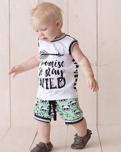 Newborn Kids Baby Boys Sleeveless Printing T-shirt Tops+Panda Shorts Set Outfits Clothes 2PCS White GG437A 70