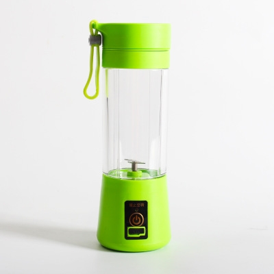 Electrically operated Mini Juicer home portable multifunctional fruit juice cup green