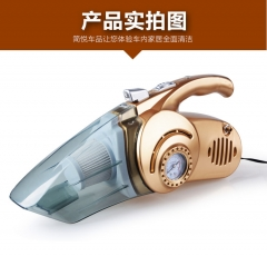 High power vehicle vacuum cleaner inflatable pump, multi tire pressure monitoring, fresh air.