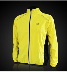 Bicycle windproof riding suit, spring outdoor dry clothes, thin waterproof splashing sportswear. s Fluorescent orange