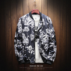 New Fashion Printed Men's Leisure Collar Jacket in 2018 JIKOO1 m