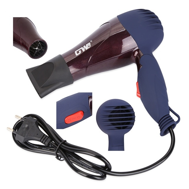 Portable Mini Hair Blower Collecting Nozzle Styling Foldable Traveller Household Electric Hair Dryer Coffee 2