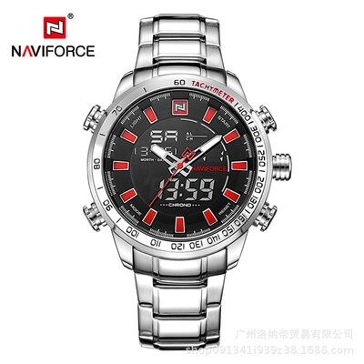 NAVIFORCE Mens Quartz Analog Watch Luxury Fashion Sport Wristwatch Waterproof Stainless Male Watches S B R one size