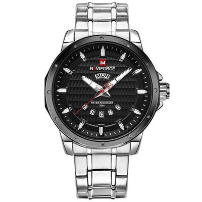 New Fashion Luxury Brand NAVIFORCE Men Gold Watches Men's Waterproof Stainless Steel Quartz Watch S B one size