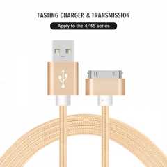 Fast Charging Data Lightning Cable for iPhone 4s iPad 2 3 4 iPod USB Charger Cord Sync Data Cable gold 100cm