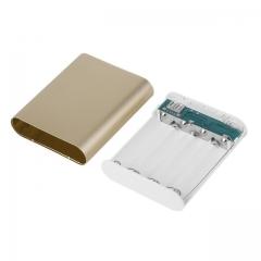 10400mAh DIY Power Bank Battery Box Case Kit Universal USB External Backup Battery Charger Powerbank gold 10400mAh