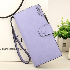 2018 New Wallet Split Leather Wallets Female Long Wallet Women Zipper Purse Money Bag purple one size