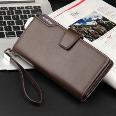 Top Quality leather long wallet men zipper wallets men women money bag pocket mltifunction brown one size