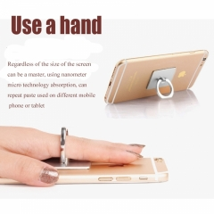 360 Degree Finger Ring Grip Mobile Phone Tablets Holder Stand Holder Back Cover random one size