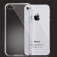 1pcs Transparent silicone case for iPhone4S transparent for iphone 4/4s