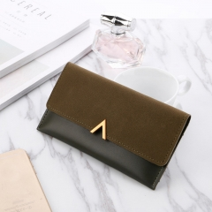 2019 New Female Wallet PU Leather Women Wallets Ladies Long Design Hasp Zipper Purses Clutch dark green one size