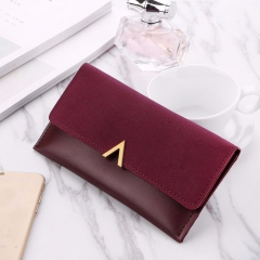 2018 New Female Wallet PU Leather Women Wallets Ladies Long Design Hasp Zipper Purses Clutch red one size