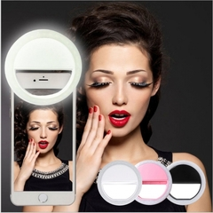 Phone LED Fill Light Selfie Portable Flash LED Camera Phone Photography Ring Lights For iPhone white for all smart phone