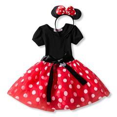 Lovely children's skirt girl mickey dress holiday dress pompous skirt dance skirt New Year gift 1# 2T
