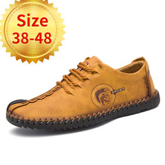 Men's Low-top Shoes Casual Shoes Fashion Shoes British Style Outdoor Sports Shoes yellow 1# 38