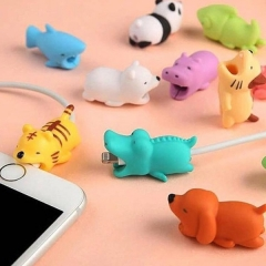 Cartoons Animal Bite Cable Data Protector Winder Organizer Data Line Protection Phone Accessories 1# 2x2x40