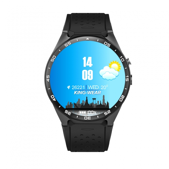 KW88 Colorful Smart Watch Heart Rate Sleep Tracker GPS Bluetooth Pedometer Message Android IOS black one size