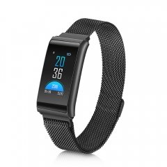R02 Sleep Monitor Fitness Tracker Heart Rate Smart Bracelet Blood Pressure Color Screen black one size