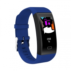 TF6 Smart Bracelet Color Screen Pedometer Heart Rate Real-time Detection Health Sport Band blue one size