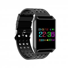 R11 Smart Watch Heart Rate Blood Pressure Monitor Smart Band OLED Color Screen Sports Bracelet black one size