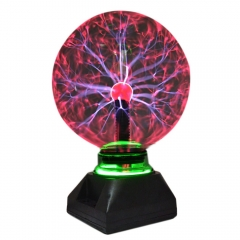 Crystal Plasma Magic Glass Sphere Electric Lamp Lightning ball Novelty Table Party Decor Lightning one color 4 inches normal