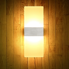 LED Acrylic Wall Lamp Wall Mounted Sconce Lights lamp Decorative Living Room Corridor Wall Lights Warm White (2700-3500K) 14X6cm 3W normal