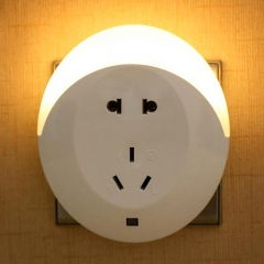 Intelligent Light Sensor ABS LED Night Light For Baby Room Wall 5 Hole Socket Lamp Energy Saving one color normal normal