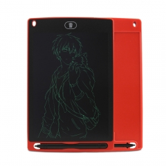 Portable Smart LCD Writing Tablet Electronic Notepad Drawing Graphics Tablet Board with Stylus Pen red