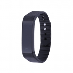 Smart Bracelet Fitness Tracker Sleep Monitor Step Counter Sedentary Reminder Pedometer black one size