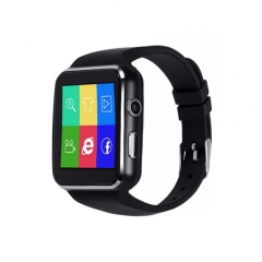 Smart Watch Call Message Reminder Pedometer Bluetooth Touch Screen Fitness SIM Card app Facebook black one size