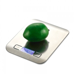 1pcs LCD Digital Kitchen Scale 5Kg x 1g Weight Food Diet With Super Slim Stainless Steel Platform silver one size