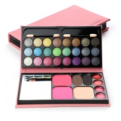 33 Color Eyeshadows Make-Up Boxes Eye Shadow Blush Powder Lip Gloss Eyebrow Powder Makeup Plate Pink